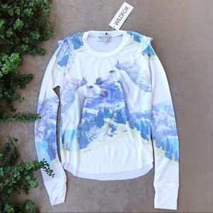 Wildfox Horse Landscape Waffle Thermal Top